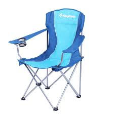 100 Oversized Padded Folding Chairs KingCamp Camp Chair Quad Steel Frame With Armrest And