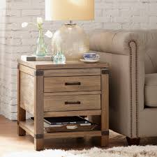 Emma End Table With Storage Lane 7332 Contemporary Chairside Table With Metal Base Fniture Nickel C Shape Findley End By At Morris Home 732641 732741 7588 Transitional Shelf Runes Hammered Copper In Warm Coffee Bean Nebraska 758141