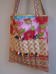A Crayon Rollup On Coloring Book Tote All In One