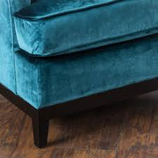 Tufted Velvet Sofa Furniture by Anabella Teal Blue Tufted Velvet Sofa Chair Great Deal Furniture