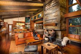 Sacramento Contemporary Lodge Living Room Rustic With Fireplace Midcentury Modern Armchairs And Accent Chairs Interior Architecture