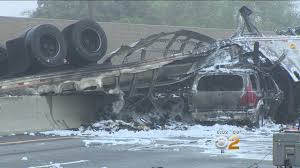 100 Ups Truck Accident I5 Closed In Commerce After Crash Leaves 3 Dead CBS Los Angeles