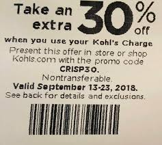 Kohls Promo Code 30% And Discount Code... - Kohls Promo ... Kohls Coupon Codes This Month October 2019 Code New Digital Coupons Printable Online Black Friday Catalog Bath And Body Works Coupon Codes 20 Off Entire Purchase For Promo By Couponat Android Apk Kohl S In Store Laptop 133 15 Best Black Friday Deals Sales 2018 Kohlslistens Survey Wwwkohlslistenscom 10 Discount Off Memorial Day Weekend Couponing 101 Promo Maximum 50 Oct19 Current To Save Money