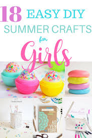 Easy DIY Summer Crafts And Activities For Girls