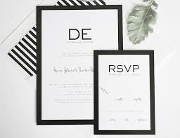 Leave Your Reply On Black And White Wedding Invitations With The Simple Invitation 15