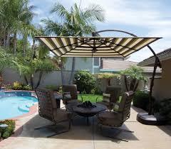 Large Cantilever Patio Umbrella by Penn Stone Treasure Garden