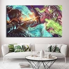 genji vs hanzo drachen spiel tapete kunst leinwand poster malerei wand bild druck für wohnzimmer hause schlafzimmer dekoration