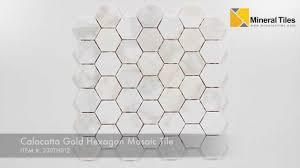 calacatta gold hexagon mosaic tile 230th012
