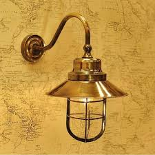 nautical style outdoor or indoor porch light in gold polished brass