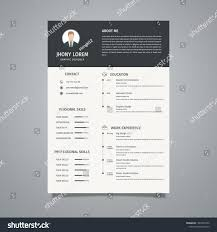 Vector De Stock (libre De Regalías) Sobre Minimalist Resume ... Cv Template Professional Curriculum Vitae Minimalist Design Ms Word Cover Letter 1 2 And 3 Page Simple Resume Instant Sample Format Awesome Impressive Resume Cv Mplate With Nice Typography Simple Design Vector Free Minimalistic Clean Ps Ai On Behance Alice In Indd Ai 15 Templates Sleek Minimal 4p Ocane Creative