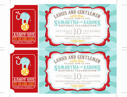 Circus Invitation Template Free Awesome Printable Carnival Tickets Download Clip Art