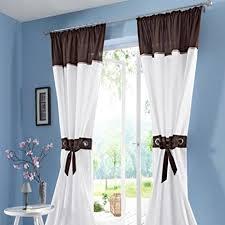 yujiao mao 2er set transparente voile vorhang jaja gardinen wohnzimmer vorhänge kräuselband kaffee bxh 140x225cm