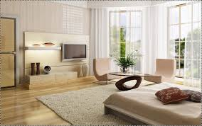 Small Apartment Living Room Layout Beige Fabric Rod Pocket Curtain Square Brown Varnished Oak Wood Round