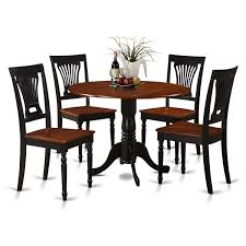 East West Furniture 5-Piece Kitchen Table And Chairs Set, Black/Cherry  Finish, Buttermilk Coaster Boyer 5pc Counter Height Ding Set In Black Cherry 102098s Stanley Fniture Arrowback Chairs Of 2 Antique Room Set Wood Leather 1957 104323 1perfectchoice Simple Relax 1perfectchoice 5 Pcs Country How To Refinish A Table Hgtv Kitchen Design Transitional Sideboard Definition Dover And Style Brown Sets New Extraordinary Dark Wooden Grey Impressive And For Home Better Homes Gardens Parsons Tufted Chair Multiple Colors