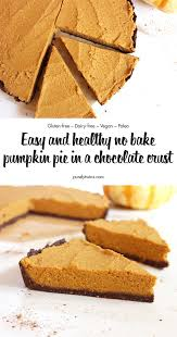 Pumpkin Pie Without Crust And Sugar by No Bake Pumpkin Pie In A Chocolate Crust Gluten Free Vegan Paleo