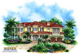 100 2 Story House With Pool Beach Plan Coastal Caribbean Home Plan With