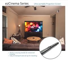 ezcinema portable pull up screen