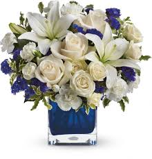 Send Telefloras Sapphire Skies Bouquet For Fresh And Fast Flower Delivery Throughout Louisville KY Area