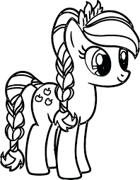 My Lil Pony Coloring Pages Little Applejack And Rainbow Dash
