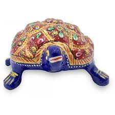 Tortoise Made In Metal And Hand Painted With Deco Paint