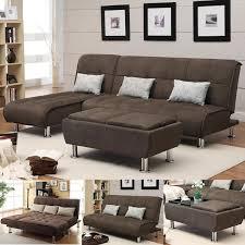 chaise pc brown microfiber 3 pc sectional sofa futon chaise bed futon
