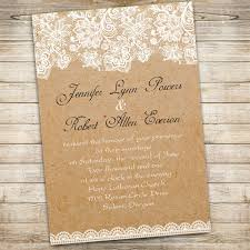 Printable Floral Lace Rustic Wedding Invitations Ewi270