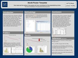Tri Fold Poster Presentation Template Powerpoint 36x48 Research Ideas