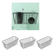 3x wandmontage badezimmer korb rack lagerung organizer
