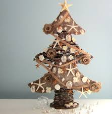 Seashell Christmas Tree Topper by 21 Table Size Christmas Trees To Set The Holiday Mood
