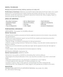 Dental Laboratory Technician Resume Lab Ultrasound Sample