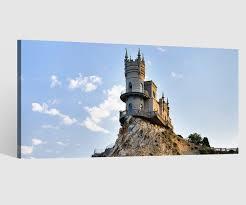 leinwandbilder 1tlg leinwand burg klippe edinburgh schottland bilder wandbild leinwandbild wohnzimmer gerahmt 9ab4297