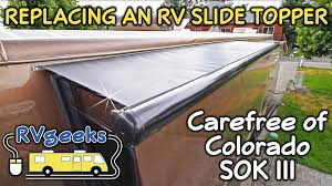 How To Replace A Carefree Of Colorado RV Slide Topper (Model SOK ... Awning Fabric Uk Huge Inventory Of Stripe Replacement And How To Install Rv Awning Fabric Bromame Cafree Parts Assembly Roller Tube Cafrees Universal Canopy On A Dometic Youtube Replacing Video Chasingcadenceco Covered Awnings Tag Covered Travel R Replace An Electric Colorado Eclipse Patio Cover Replacement Rv More Of Caravan Roll Out