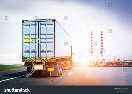 Container Truck Go Trade Port Stock Photo (Edit Now) 591257876 ...