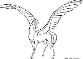 Horse Pegasus Fantasy Unicorn Coloring Pages Online Free