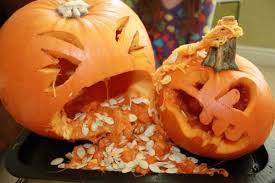 Puking Pumpkin Pattern by 13 Totally Doable Pumpkin Carving Ideas