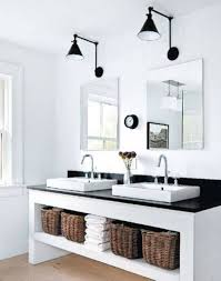 Industrial Bathroom Vanity Lighting Black Lowes Ceiling