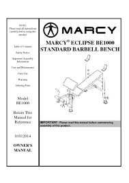 Marcy Eclipse Roman Chair by 14mebe1000 Marcy Eclipse Standard Barbell Bench Be1000 User Manual 1 Pdf Jpg
