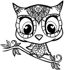 Cute Owl Printable Coloring Pages