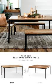 West Elm Bliss Sofa Bed by West Elm Box Frame Dining Table Copycatchic