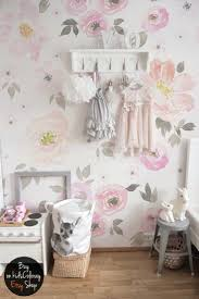 Wall Mural Decals Flowers by Wall Ideas Pink And Gray Jungle Wall Mural With Monkey Decals
