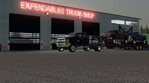 100 Truck From The Expendables Placeable Workshop V10 FS19 Farming Simulator 19 Mod
