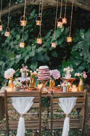 Country Outdoor Wedding Dessert Table Idea