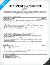 Resume Objective For Government Job Examples Feat How To Write A Resumes