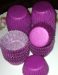 Solid Regal PURPLE Mini Size Cupcake Liners Papers Grease Proof