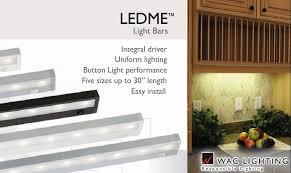 wac led cabinet lighting iron