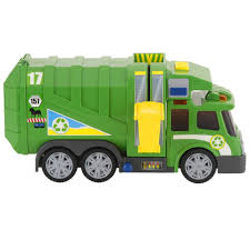 Fast Lane Action Wheels Garbage Truck - Green - Toys