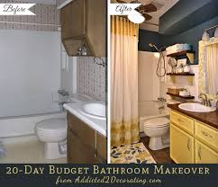 20 Day Small Bathroom Makeover Before And After Throughout Ideas For Makeovers On A Budget Decor