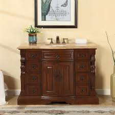 48 Inch Double Sink Vanity Top by Accord 48 Inch Single Sink Bathroom Vanity Roman Vein Cut
