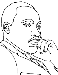 The Stylish As Well Attractive Martin Luther King Coloring Page Regarding Inspire To Color