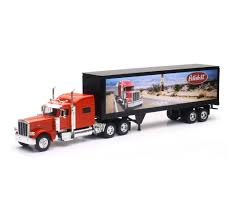 Peterbilt 389 Route 66 Semi Truck & Trailer 1/32 Scale By Newray 13453